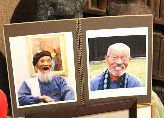 故安江静二先生と、弟子だった故吉村房雄さんも、写真で参加