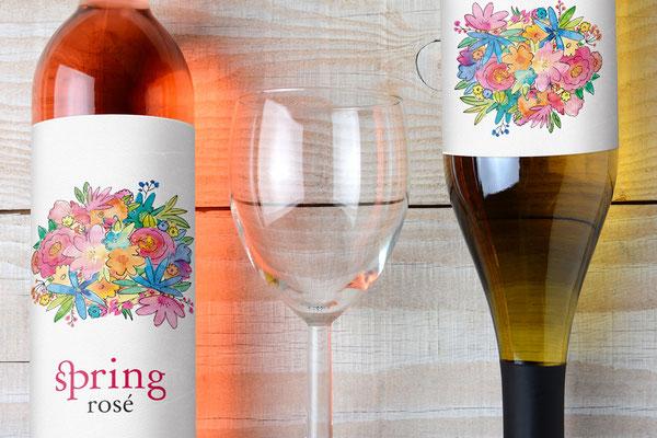 Propuesta de etiqueta de vino en venta: Spring