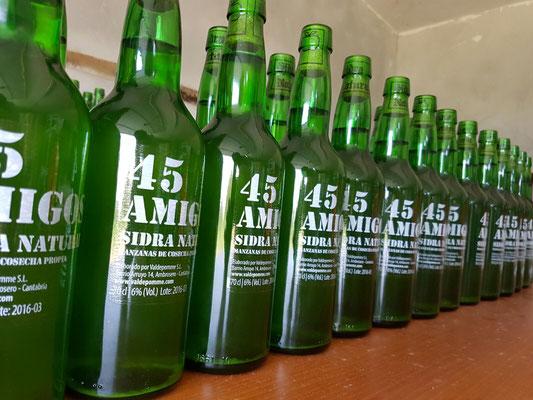 Etiqueta para Sidra de Cantabria 45 Amigos