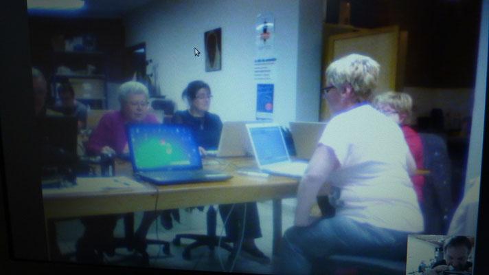 Scrabble Quaregnon - Hotton : Quaregnon sur l'écran