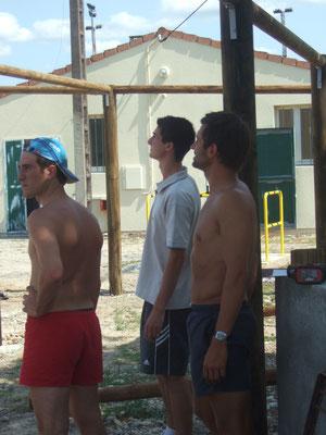 Montage de la paillote - 18/08/2007
