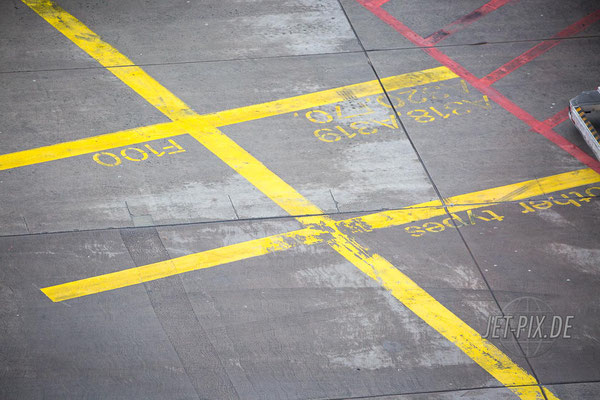 Bodenmarkierungen für entsprechende Flugzeugmuster Airbus A318 Airbus A319 Fokker100 usw.