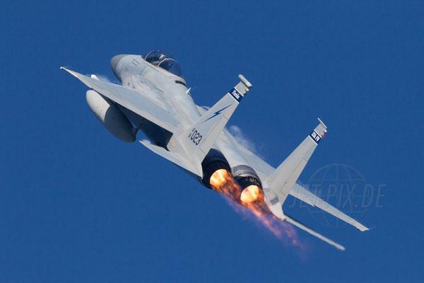 Afterburner eine F15 der Amerikaner bei Frisian Flag