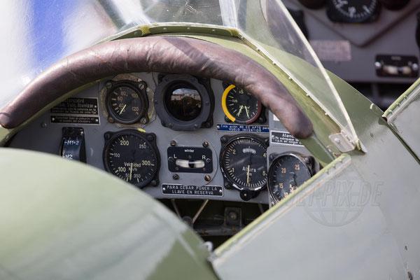 Auch mal ein Einblick ins Cockpit eines Oldtimers war mal möglich.