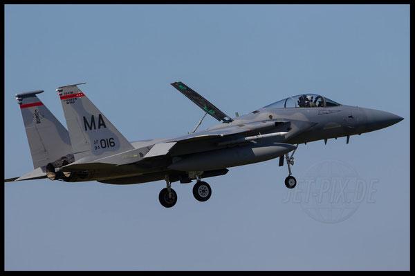 F15 der Amerikaner in Leeuwarden bei bestem Wetter