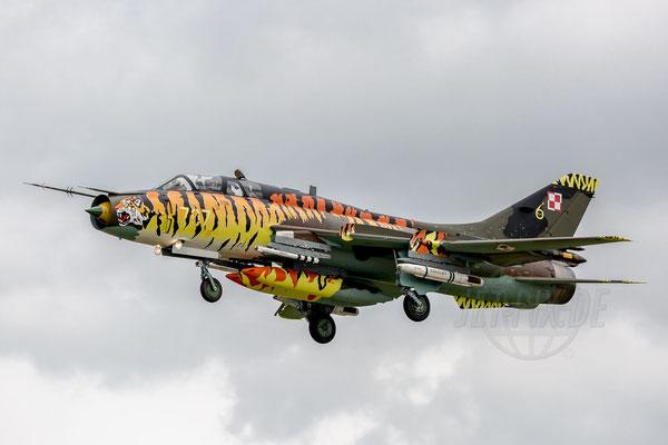 Die SU-22 im Tigerlook ist einfach beeindruckend. Vielen Spottern wird aufgefallen sein, dass das Tiger-Design aufgefrischt wurde.