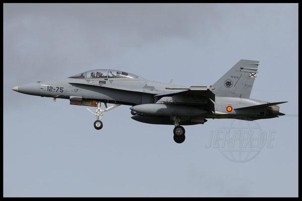 Spanische F18 bei der Landung in Leeuwarden