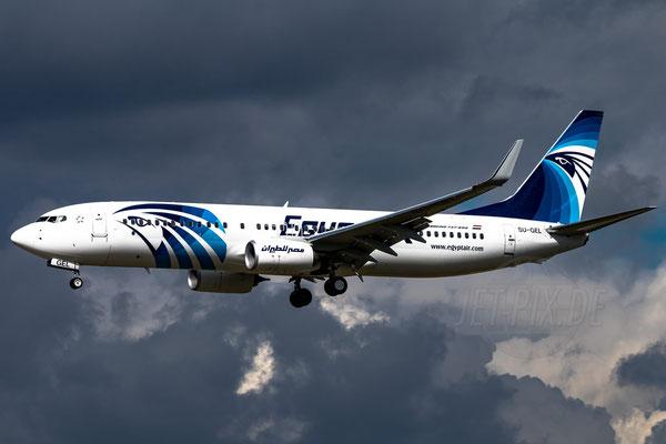 Sehr kontrastreich diese Boeing 737 der Egyptair