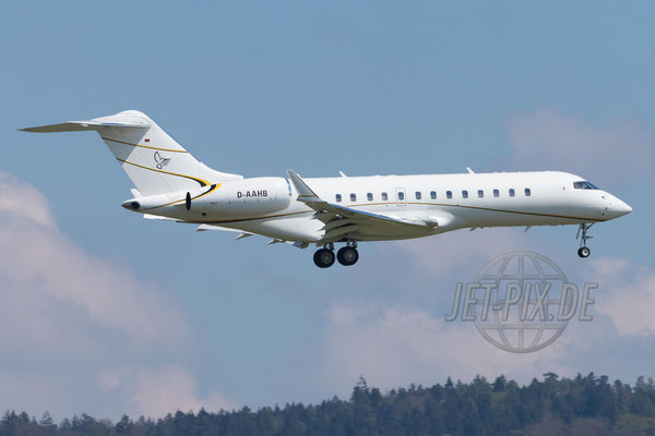 D-AAHB MHS Aviation Bombardier BD-700 Global 6000  2017 04 29 ZRH