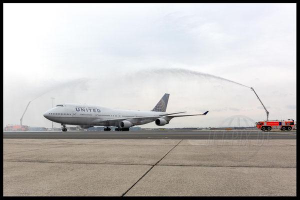 N107UA Boeing 747 United Airlines 2017 10 28 EDDF Frankfurt Tour 747UA End