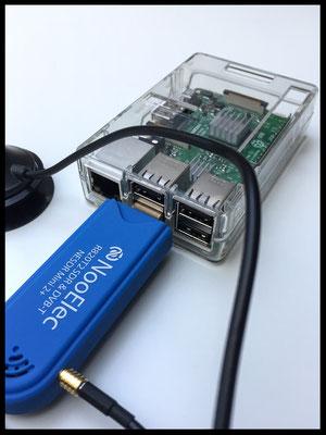Raspberry mit USB DVBT Receiver / alles fertig bestückt und funktionsfähig