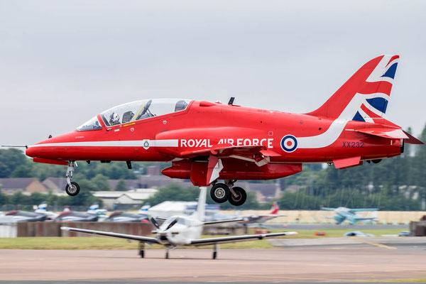 Landung der Red Arrows BAe