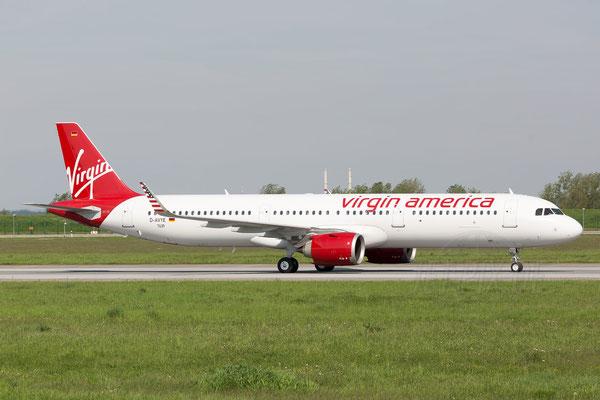 Endlich mal ein A321 Airbus NEO vor der Linse. Und dann noch von Virgin America. Diesen Flieger wird man wohl nicht mehr so schnell in Deutschland sehen.