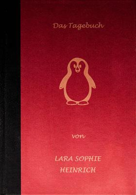 Tagebuch mit gefärbten Pappumschlag.