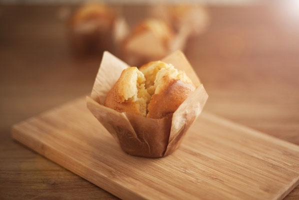 Vanille muffin: Engelse smeuïge muffin verrijkt met Bourbon vanille