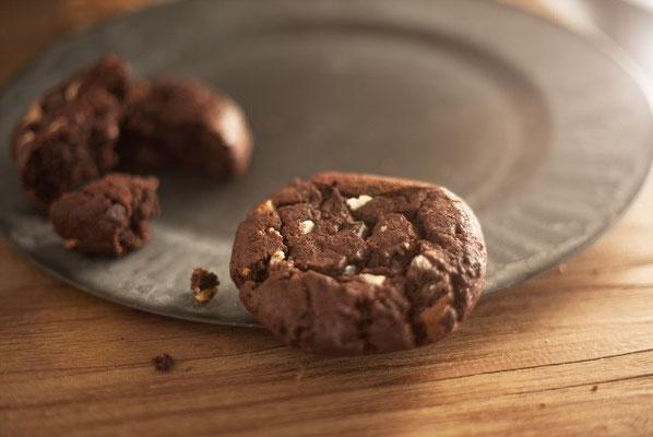 Choco koek: Superkrokant koekje van eigen deeg met pure chocolade van 80% cacao
