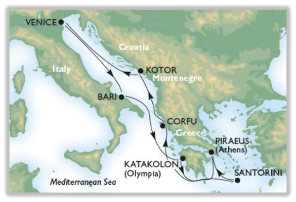 Unsere Reiseroute : Italien - Griechenland - Montenegro - Italien