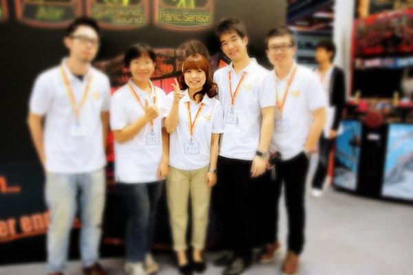2012年  GTI Asia Taipei Expo (台湾国際ゲーム展)日文語担当スタッフ