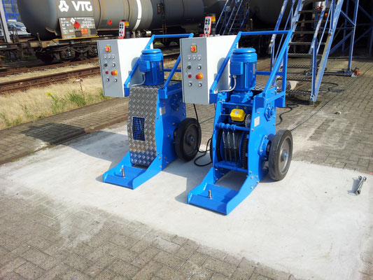 Shunting winches, mobile