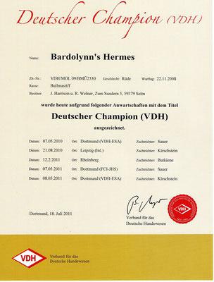 Duits (VDH) kampioen