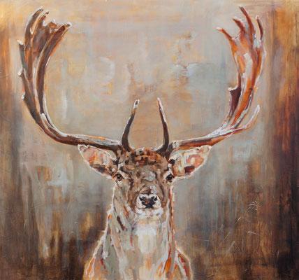 Dambok/Fallow deer   oil on linen   140x1220