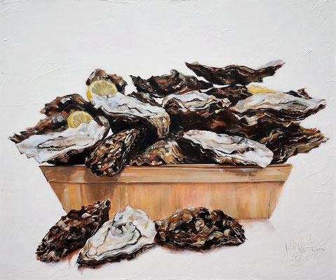 Oesters/Oysers  oil on linen   120x100cm  
