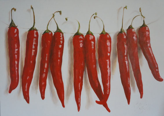 Pittig!/Spicy! | oil on linen | 140x100cm