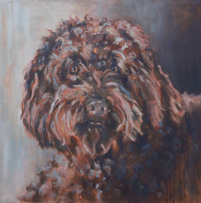 Tommy | portret on commission | oil on linen | 80x80cm