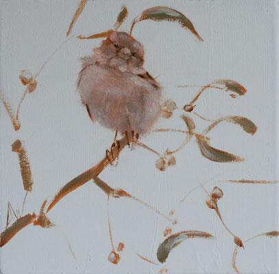 Mistletoe | olie op linnen | 20x20cm