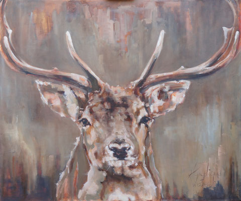 Dambok / Fallow deer | oil on linen | 120x100cm