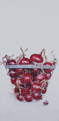 De uien van boer Kees/The onions of farmer Kees | oil on linen | 50x100cm