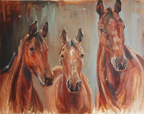 De drie   portret commission   140x110cm