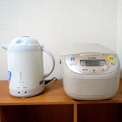 石垣島のリゾートバイトの「寮」付属炊飯器とポット