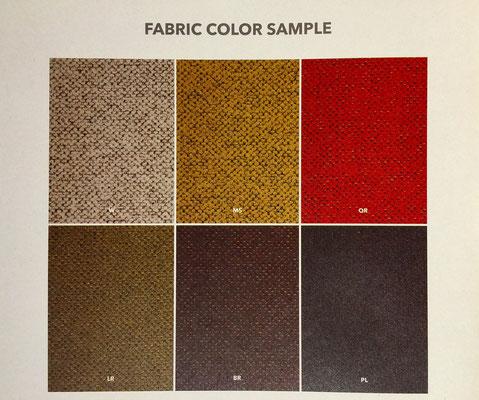 座面のカラーはレザーに加え、こちらの6色からお選びいただけます。