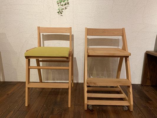 チェアーの座面は、板座とカラー豊富なウレタン座からお選びいただけます。