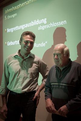Fratnik Horst mit Obmann Dankelmayr
