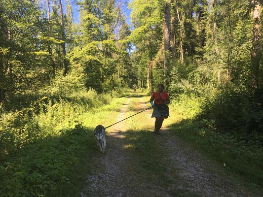 Eagle und Nicole rennen auch zusammen.