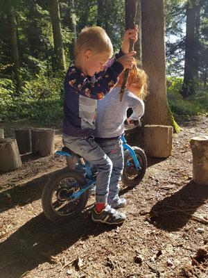 Motocross, oder die Welpen auf dem Drahtesel.  (Foto V.Glauser)