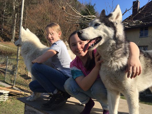 Mit Lina und Natalie