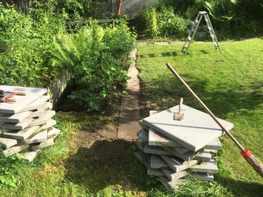 Platz für Zäune vorbereiten