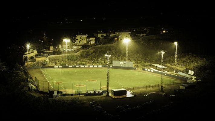 Baseball Stadium by night in Tenerife, Spain