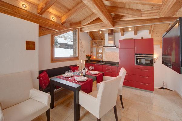 Alpoase Küchenboden Zermatt