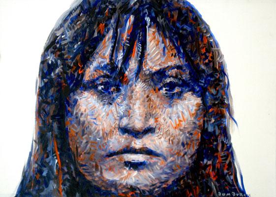 "NOREEN HALL ""PRAIRIE SUN RISE"" 1987 /1991, Acrylic on paper on Aluminum, Size: 100 x 72,5 cm, framed"