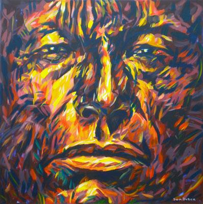 ARIKARA SCOUT 1870 / 1995, Acrylic on canvas, Size: 110 x 110 cm, unframed, (not available)