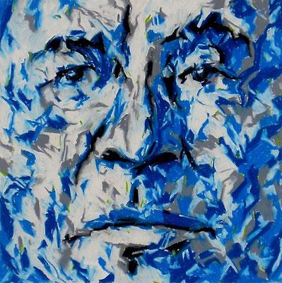 LAME DEER, Pastel crayon on paper, Size: 29 x 29 cm (paper size 55 x 75 cm), unframed