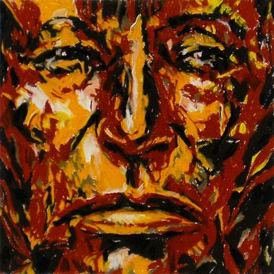 ARIKARA SCOUT, Pastel crayon on paper, Size: 29 x 29 cm (paper size 55 x 75 cm), unframed