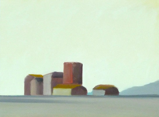 OVERTHERE, Oil on canvas, flat, not on frame, Size: 46 x 34 cm, unframed