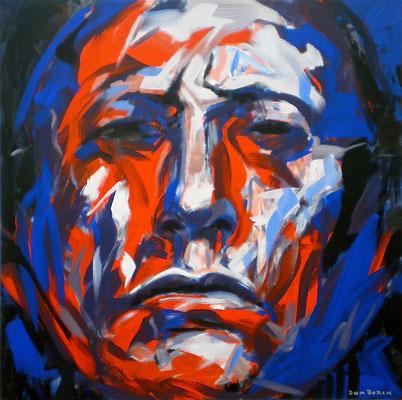 QUANAH PARKER 1891 / 1991, Acrylic on canvas, Size: 110 x 110 cm, unframed