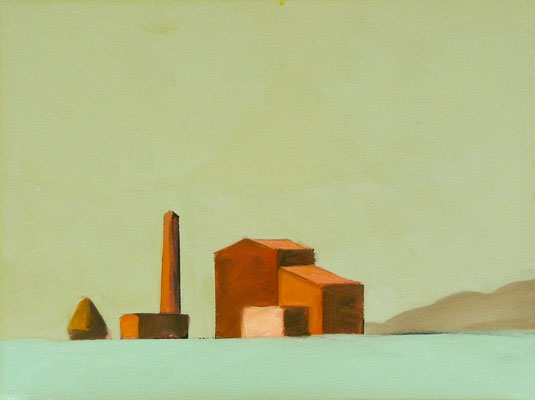 AGRICOLA, Oil on paper, Size: 56 x 42 cm, unframed