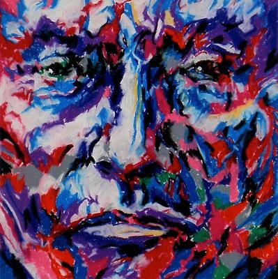 CHIEF JOSEPH, Pastel crayon on paper, Size: 29 x 29 cm (paper size 55 x 75 cm), unframed